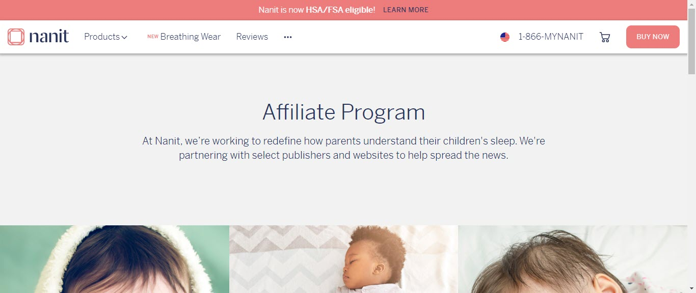 Baby Product Affiliate Programs - nanit affiliate