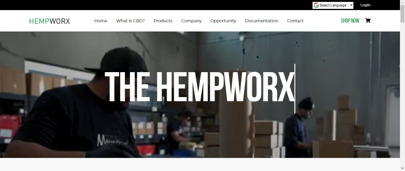 Hempworx MLM Review - home page