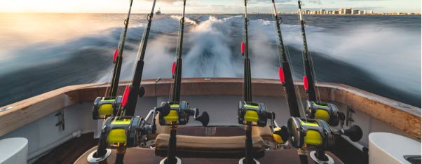 How to Sell Fishing Equipment - fishing rods in boat