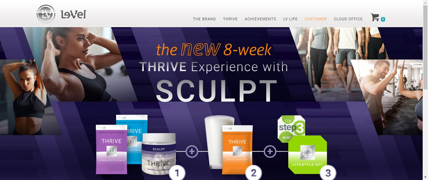 Le Vel Thrive MLM Review - home page