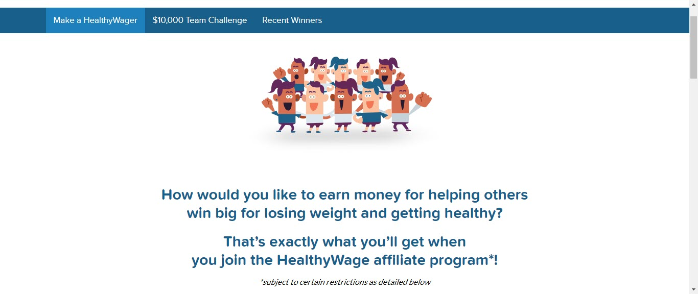 Weight loss affiliate programs - Healthy Wage affiliate