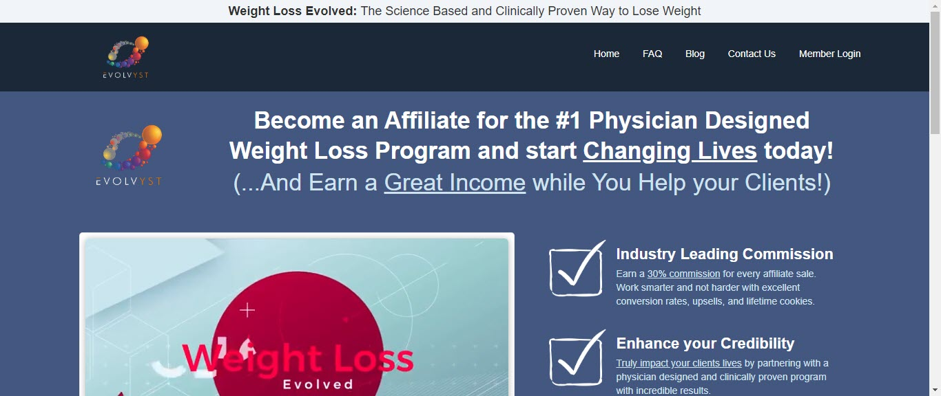 Weight loss affiliate programs - weight loss evolved affiliate
