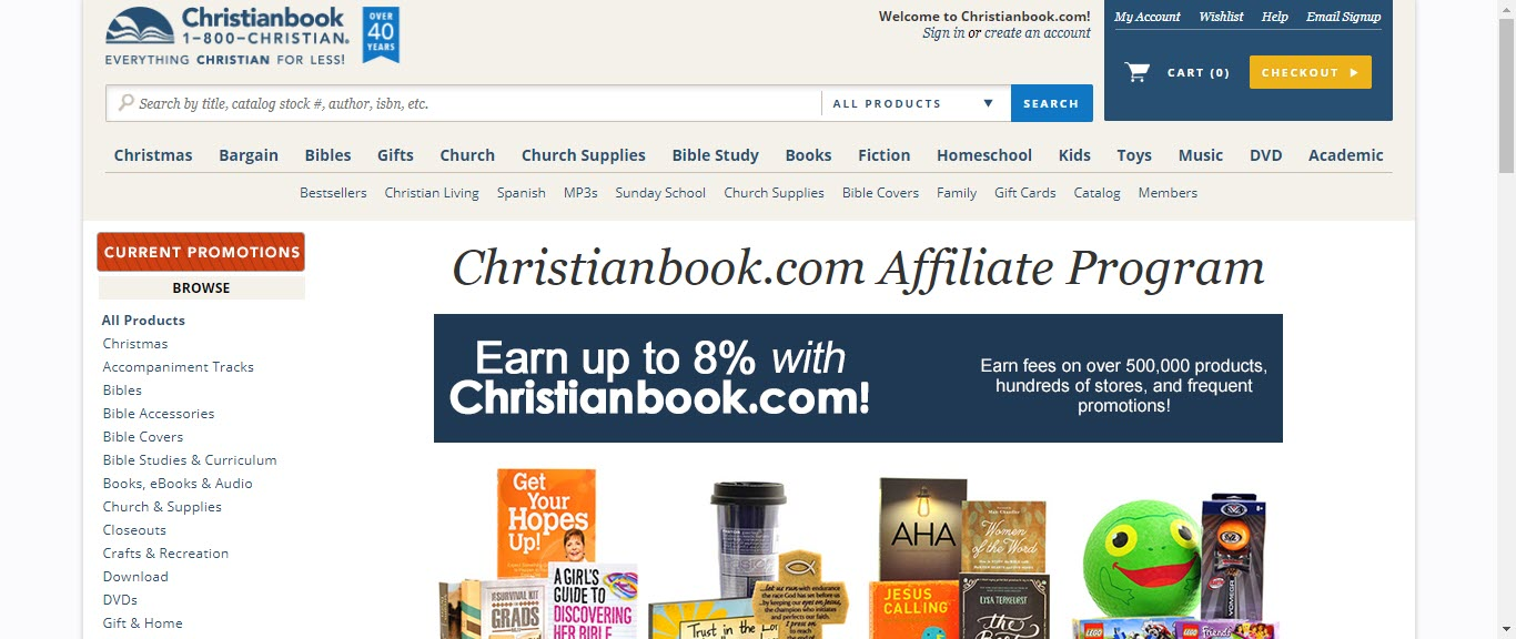 book affiliate programs - Christianbook affiliate