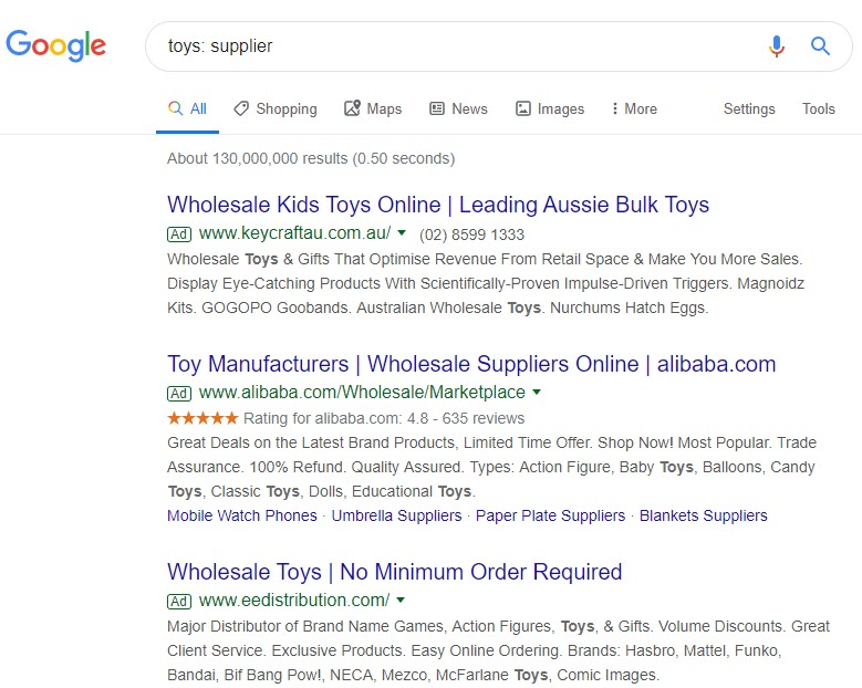 make money selling toys online - supplier