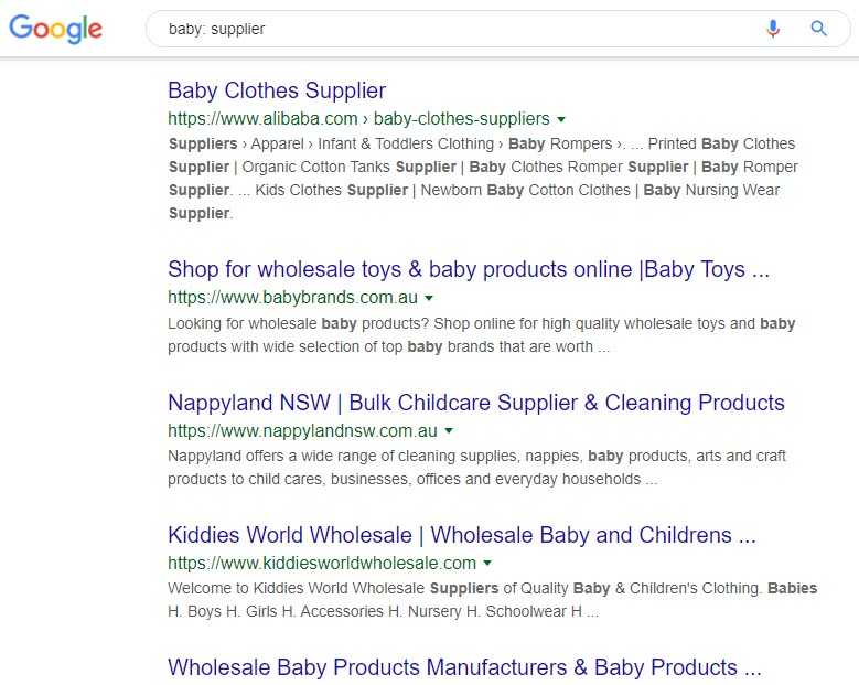 selling baby products online - baby supplier