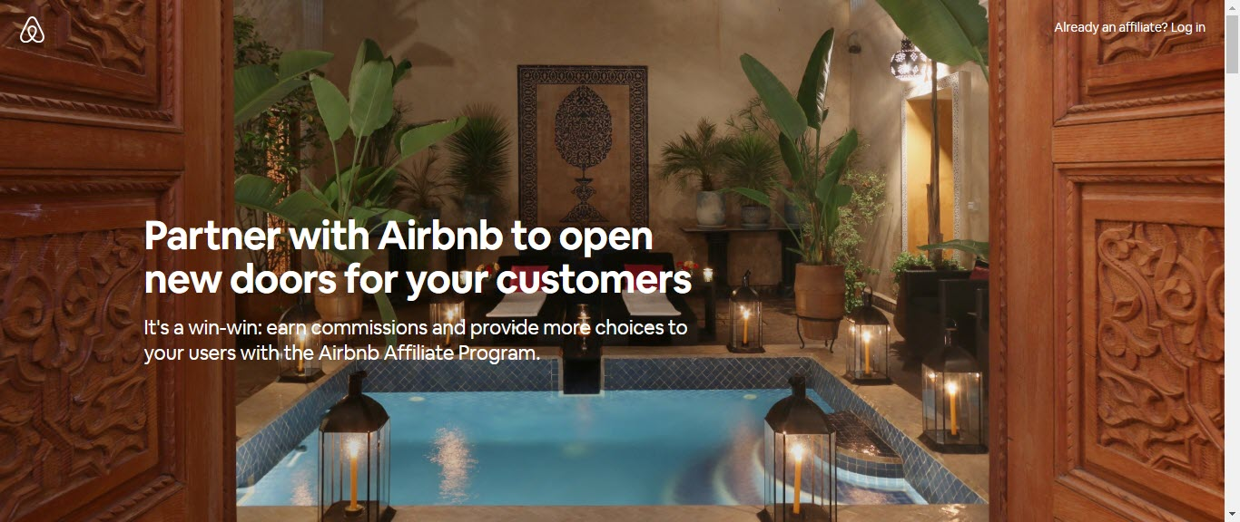 Best Hotel Affiliate Programs - airbnb affiliate