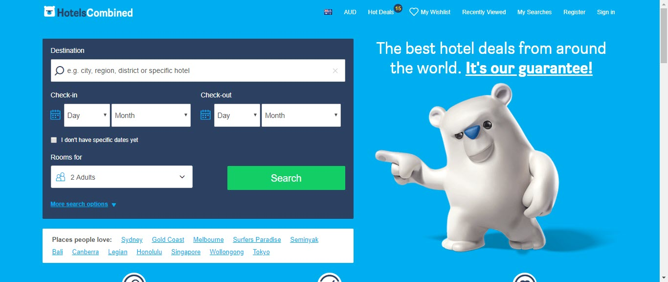 Best Hotel Affiliate Programs - hotels combined home