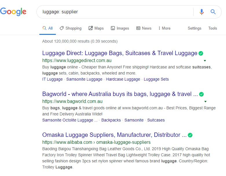 How to Sell Travel Online - luggage supplier