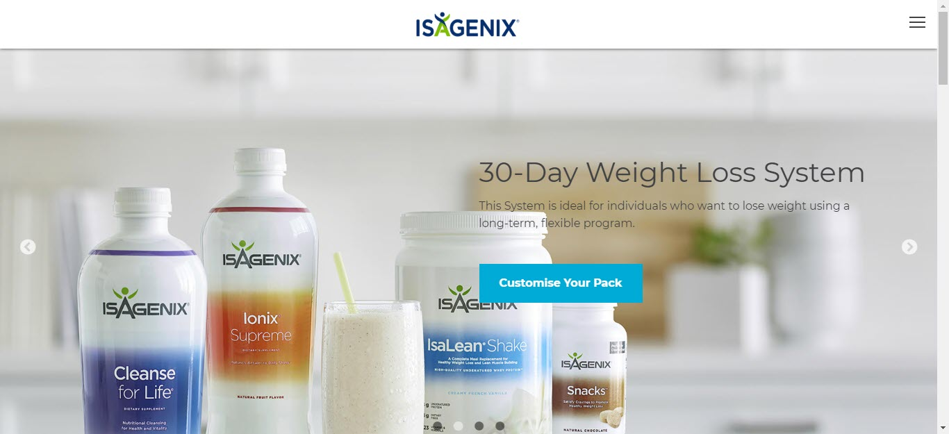 Is Isagenix a MLM - home page