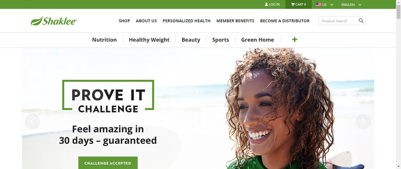 Is Shaklee an MLM - home page