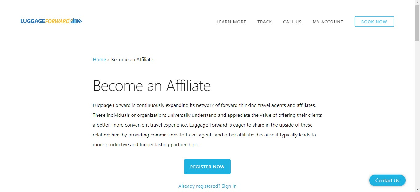 Travel Accessories Affiliate Programs - Luggage forward affiliate