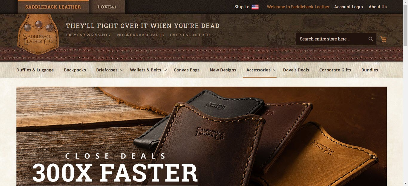 Travel Accessories Affiliate Programs - Saddleback leather