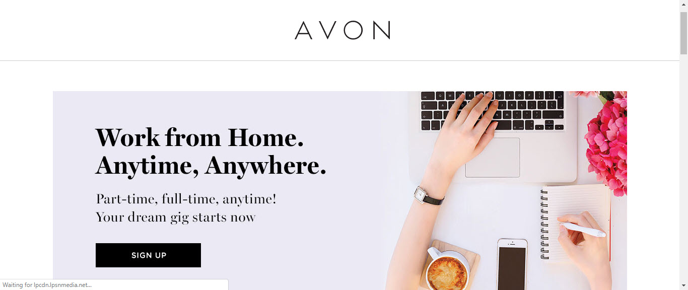 What is the Avon MLM - MLM signup page