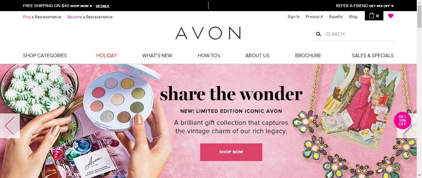 What is the Avon MLM - home page