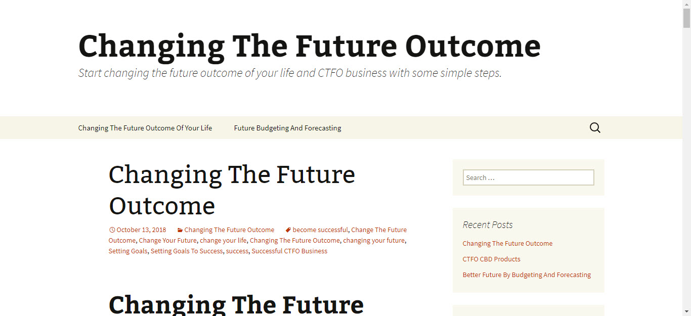 is changing the future outcome - Home