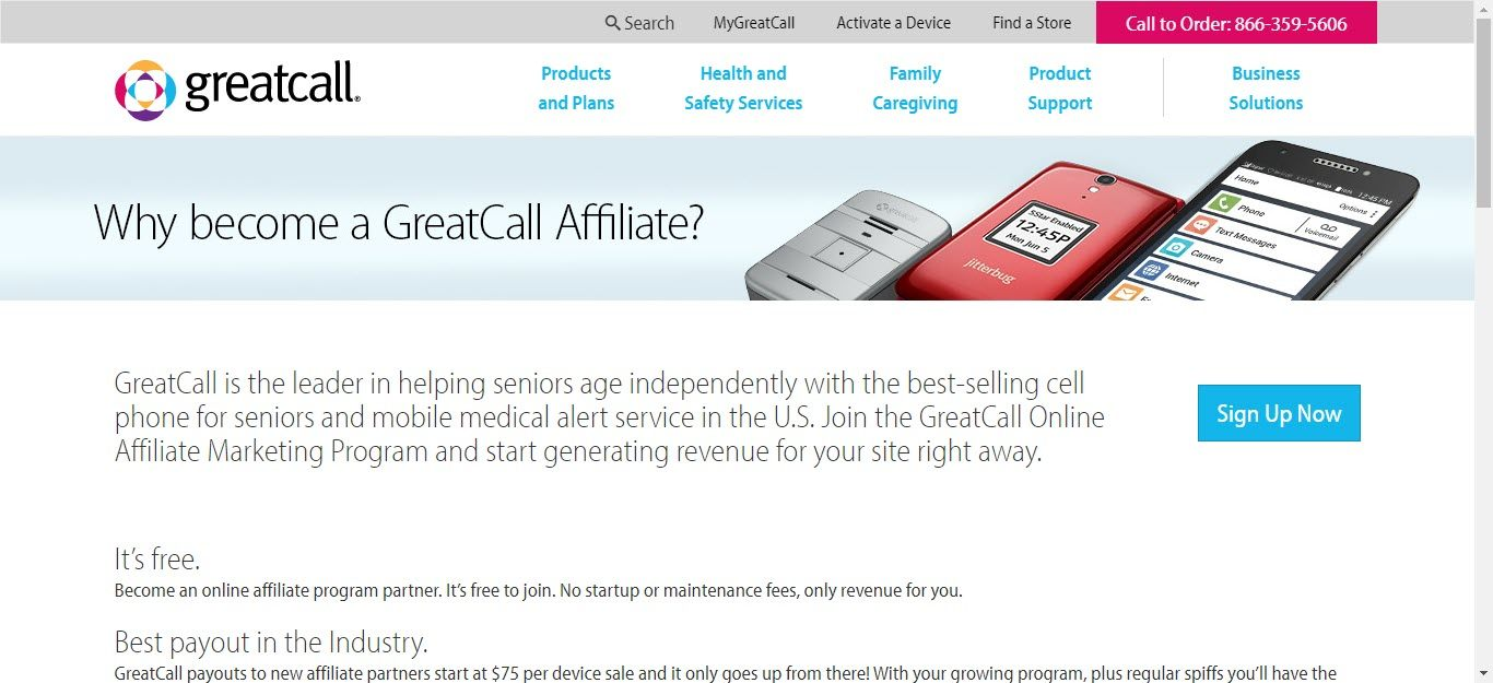 10 Cell Phone Affiliate Programs - Greatcall affiliate