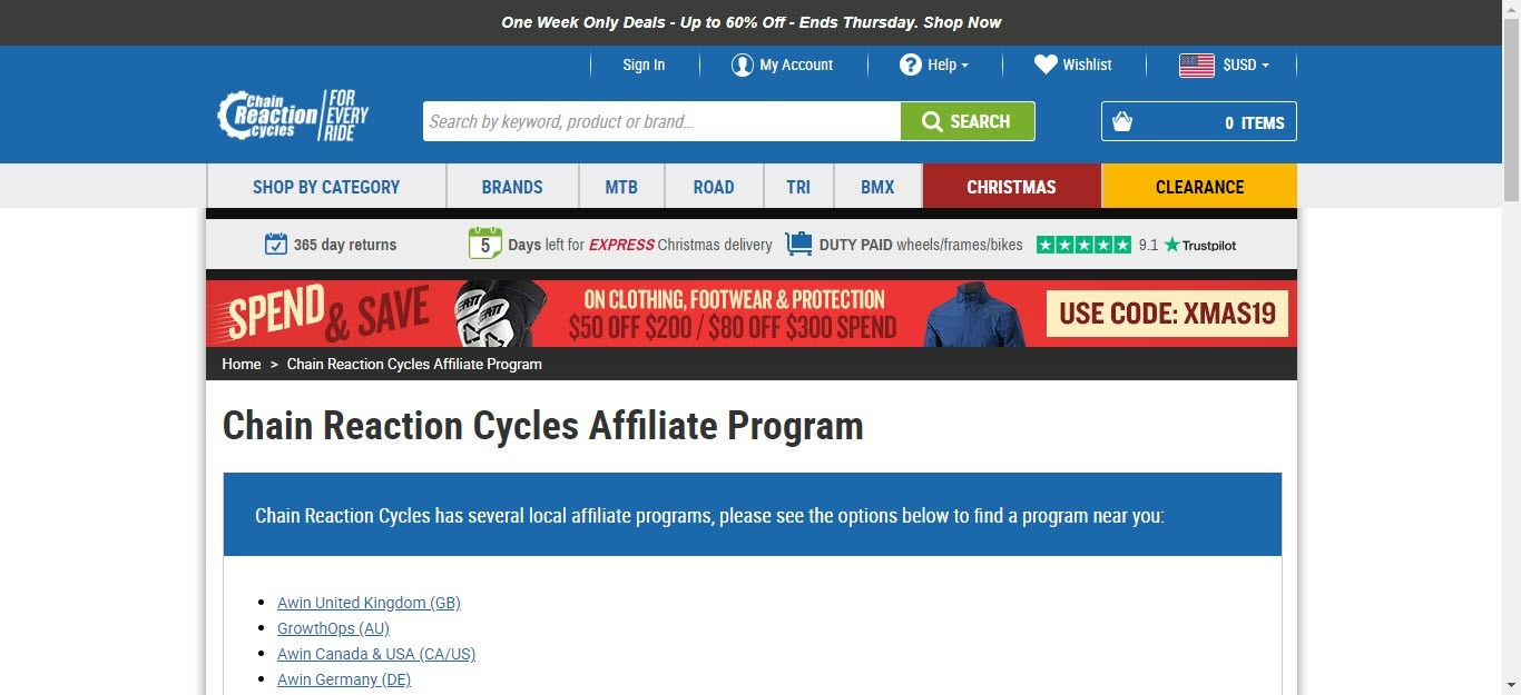 Bicycle Affiliate Program - CRC affiliate