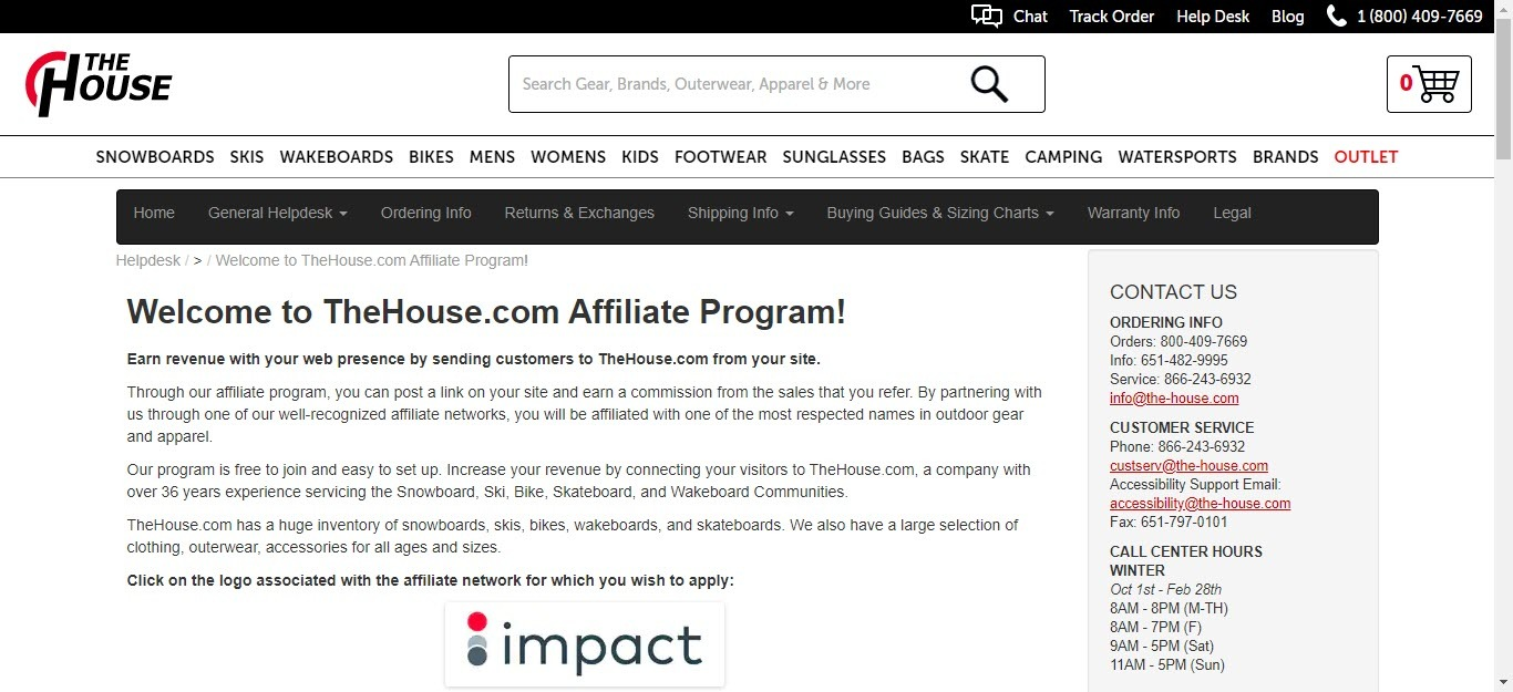 Bicycle Affiliate Program - The house affiliate