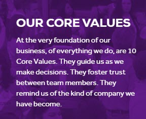 World Ventures Travel MLM - core values