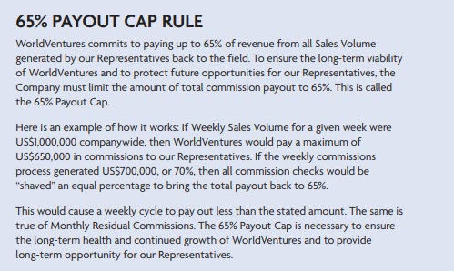 World Ventures Travel MLM - payout cap