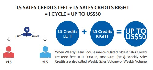 World Ventures Travel MLM - weekly team bonus