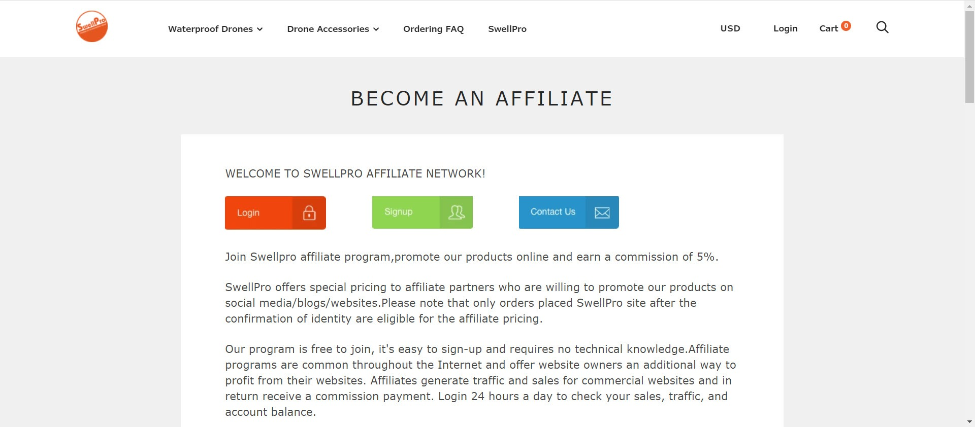 Drone Affiliate Programs - Swellpro affiliate