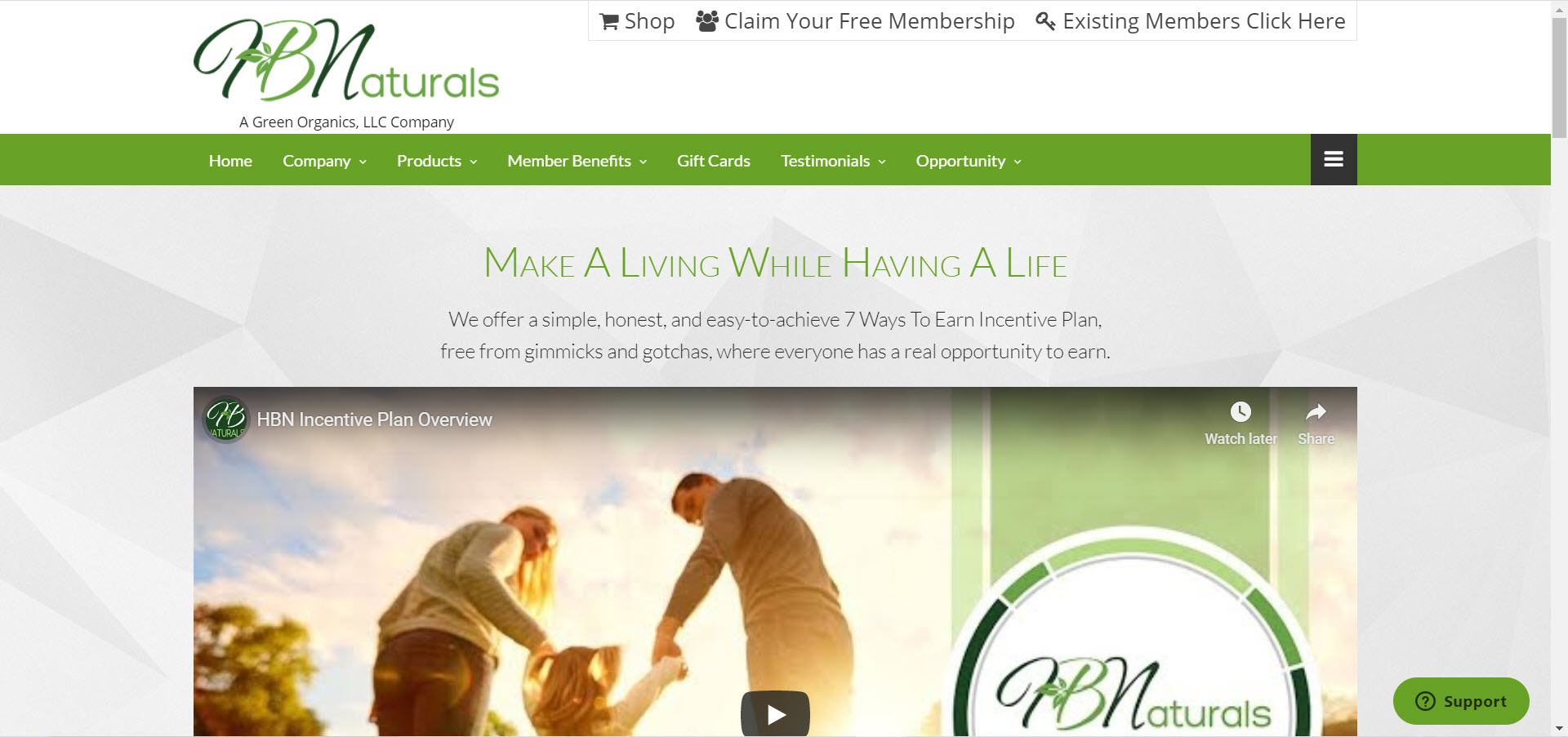 HB Naturals - opportunity page