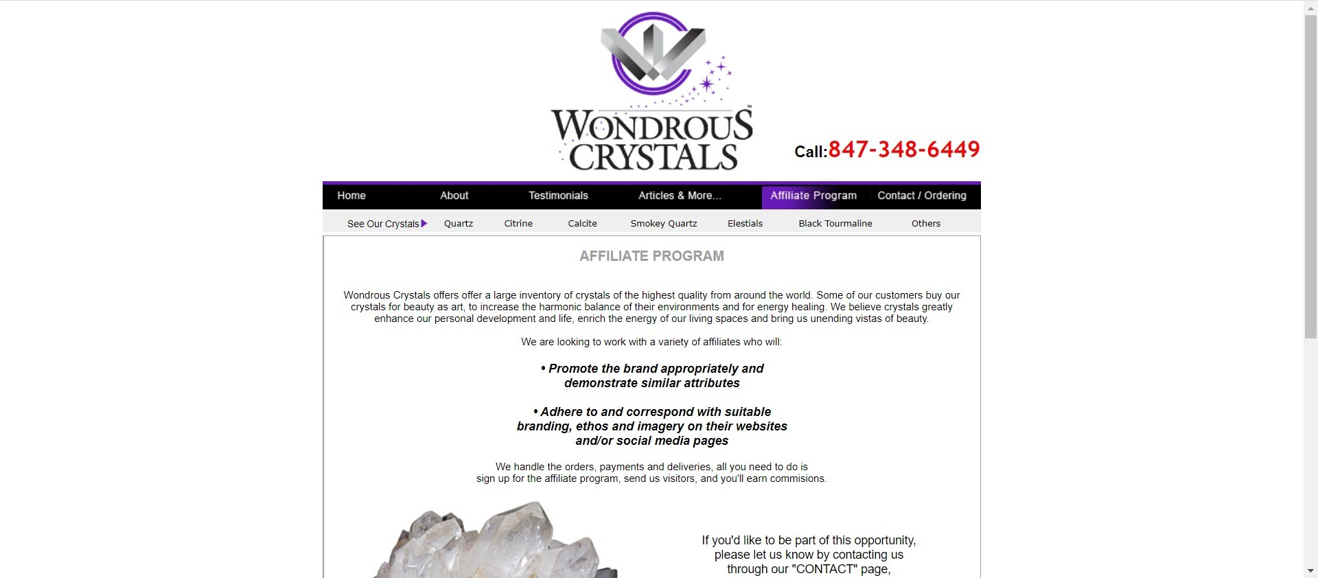 Healing Crystal Stones - Wondrous Crystals Affiliate