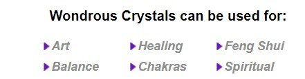 Healing Crystal Stones - Wondrous Crystals stripe