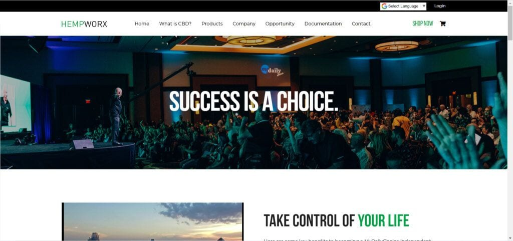 Hempworx MLM Review - opportunity page