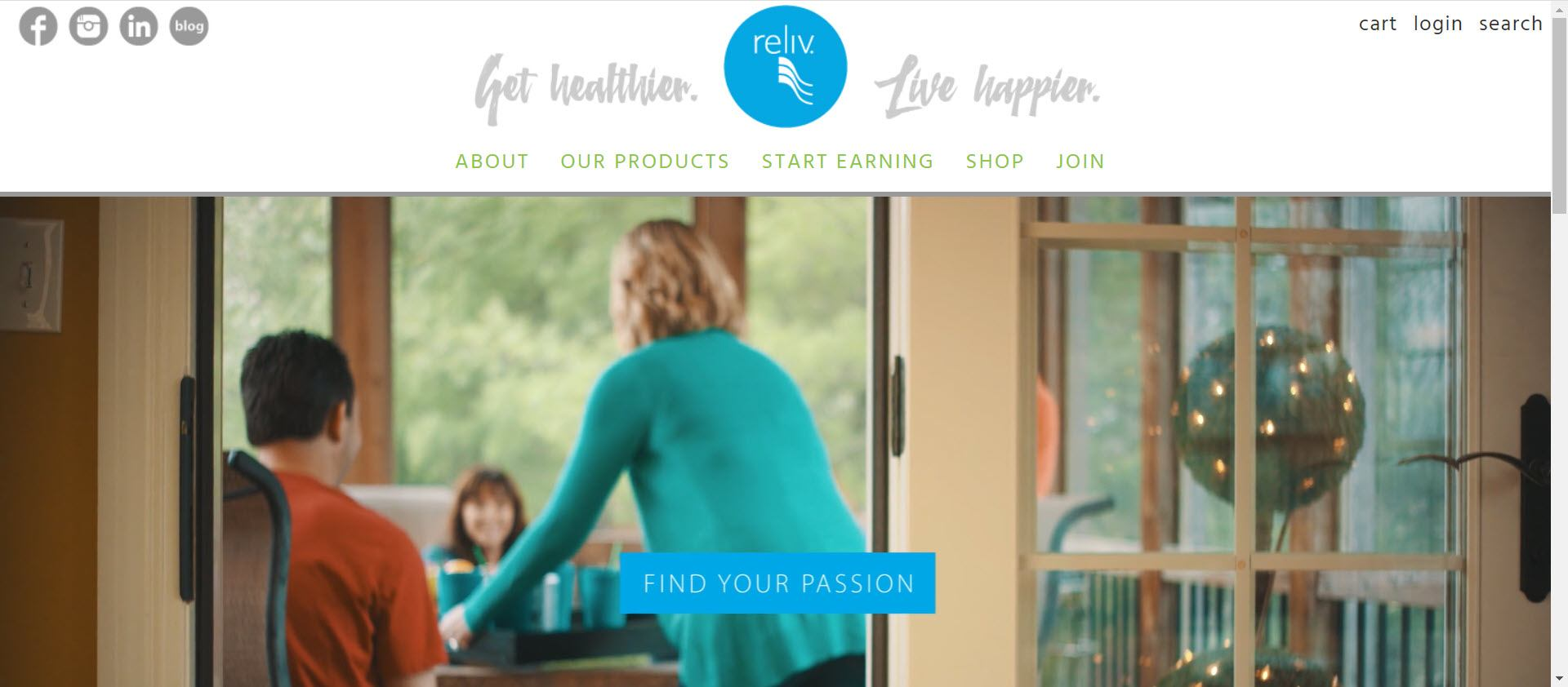 Is Reliv a MLM - Opportunity page