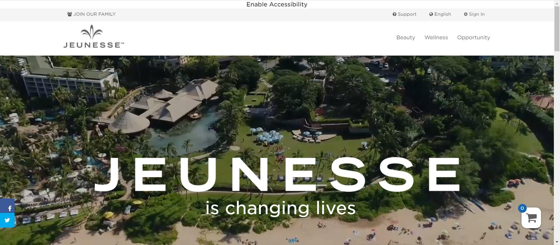 Jeunesse Global MLM Review - home