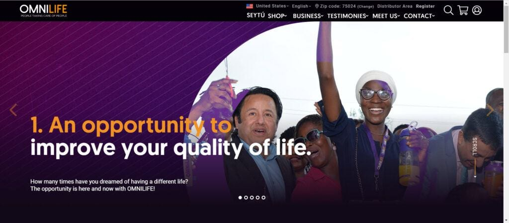 Omnilife Supplements MLM Review - opportunity page