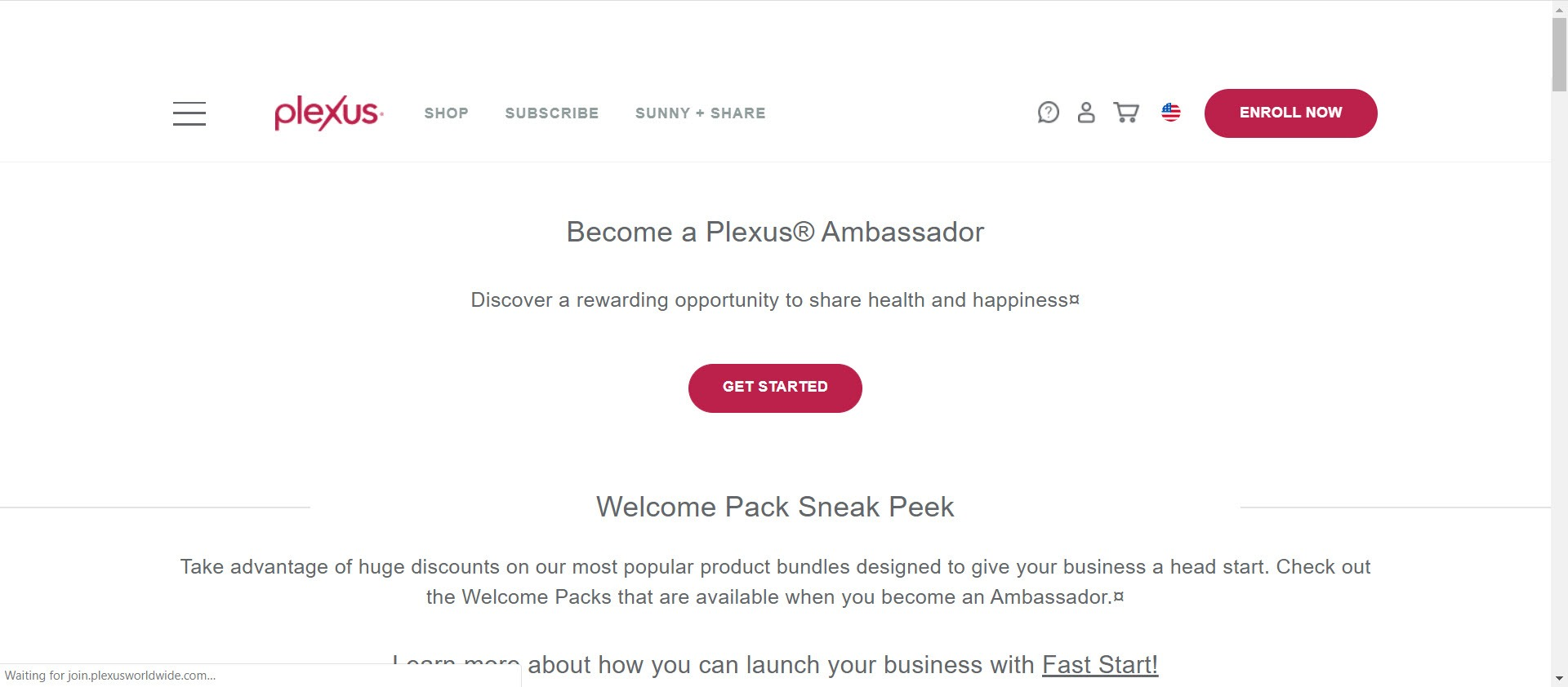 Plexus Worldwide MLM Review - opportunity page