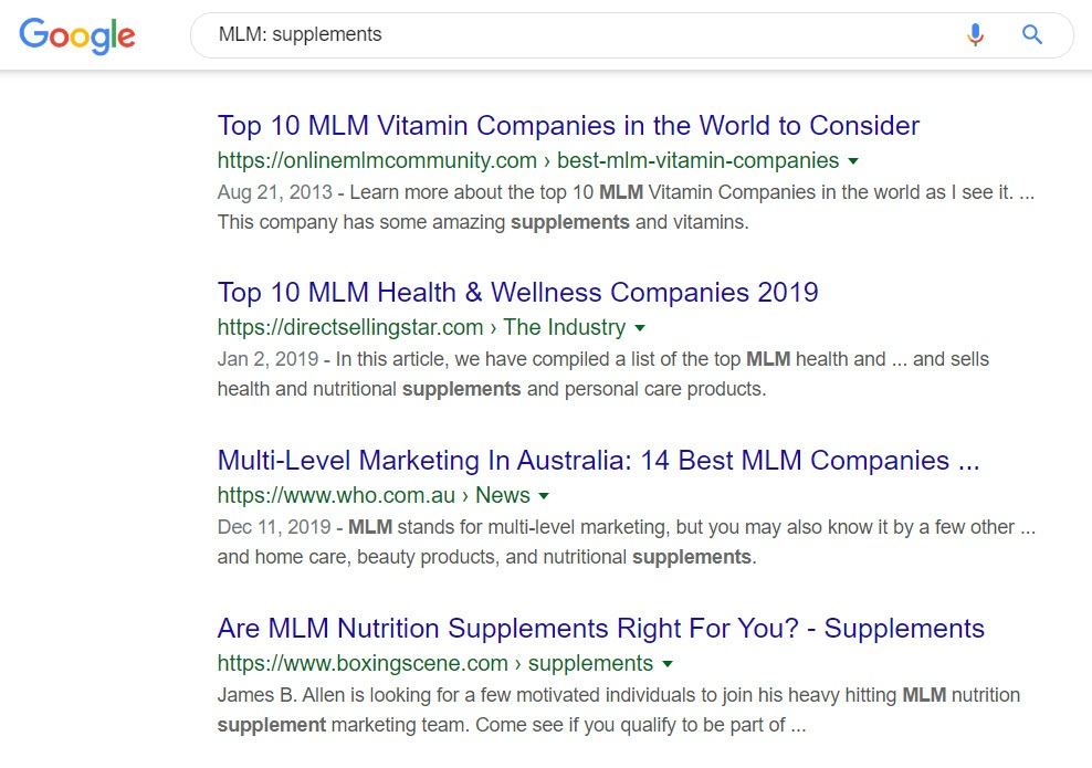 Supplement MLM Companies - MLM List