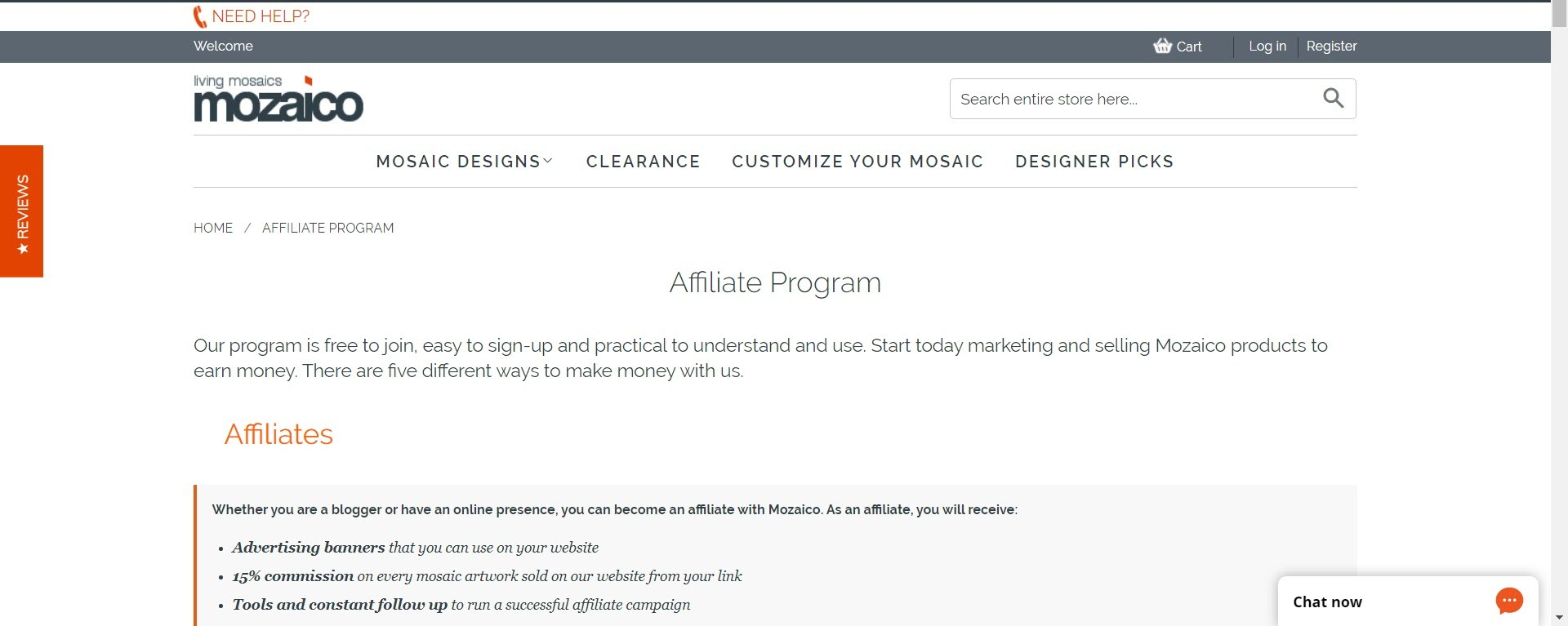 best christian affiliate programs - mozaico affiliate