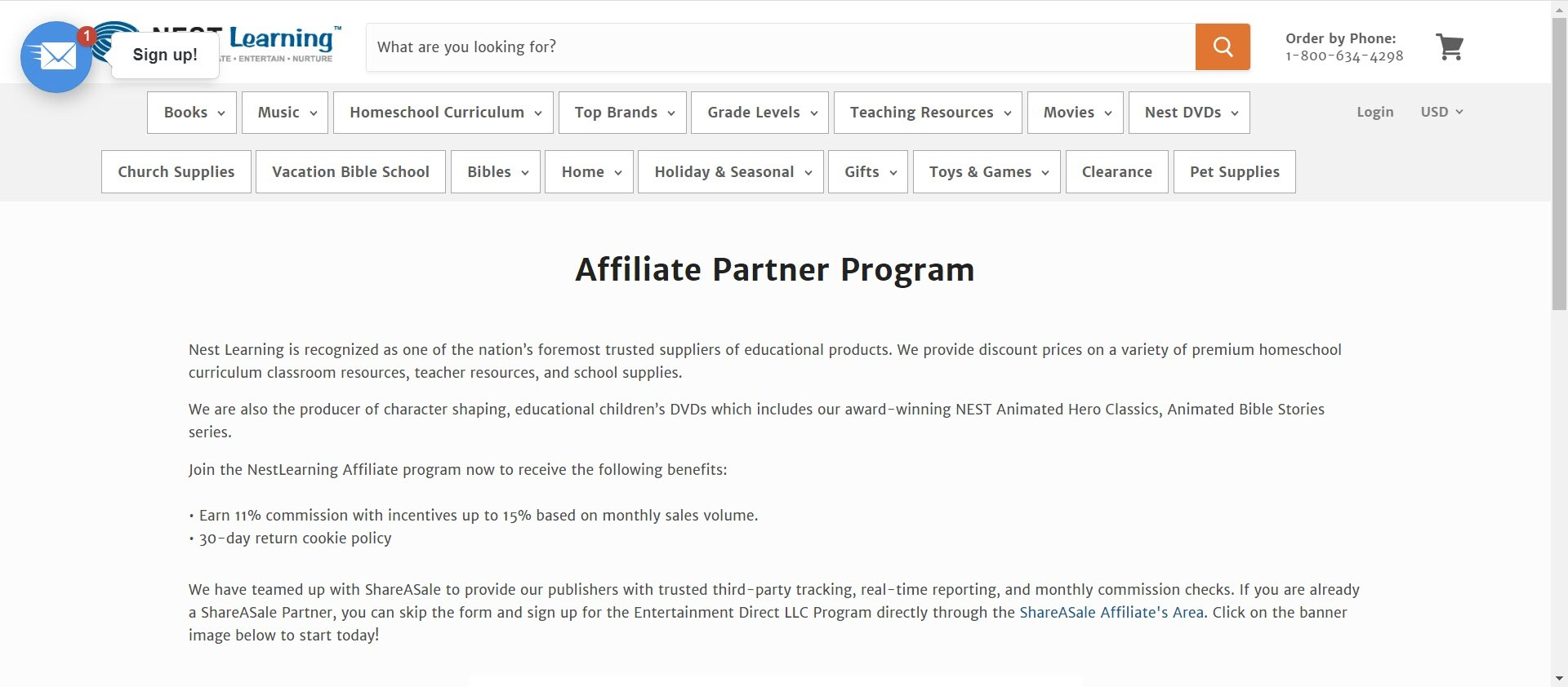 best christian affiliate programs - nest learning affiliate