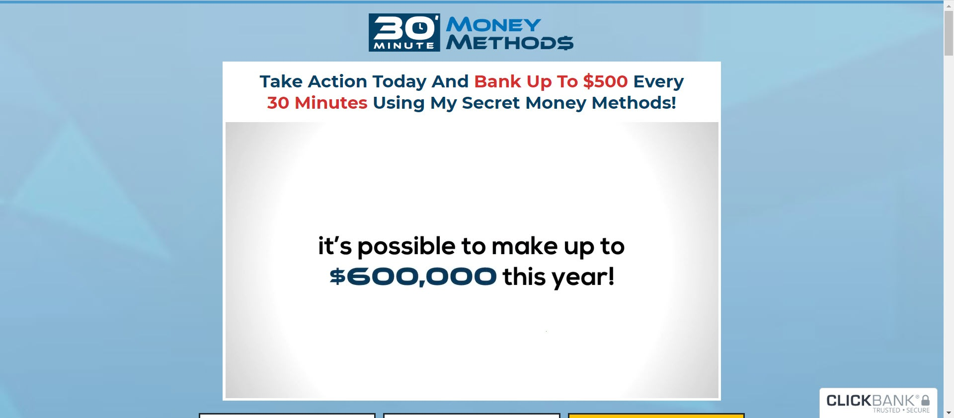 what is 30 minute money methods - sales page
