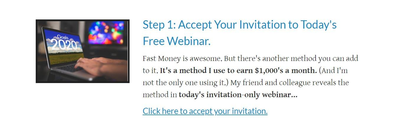 Fast Money Methods Review - Step 1