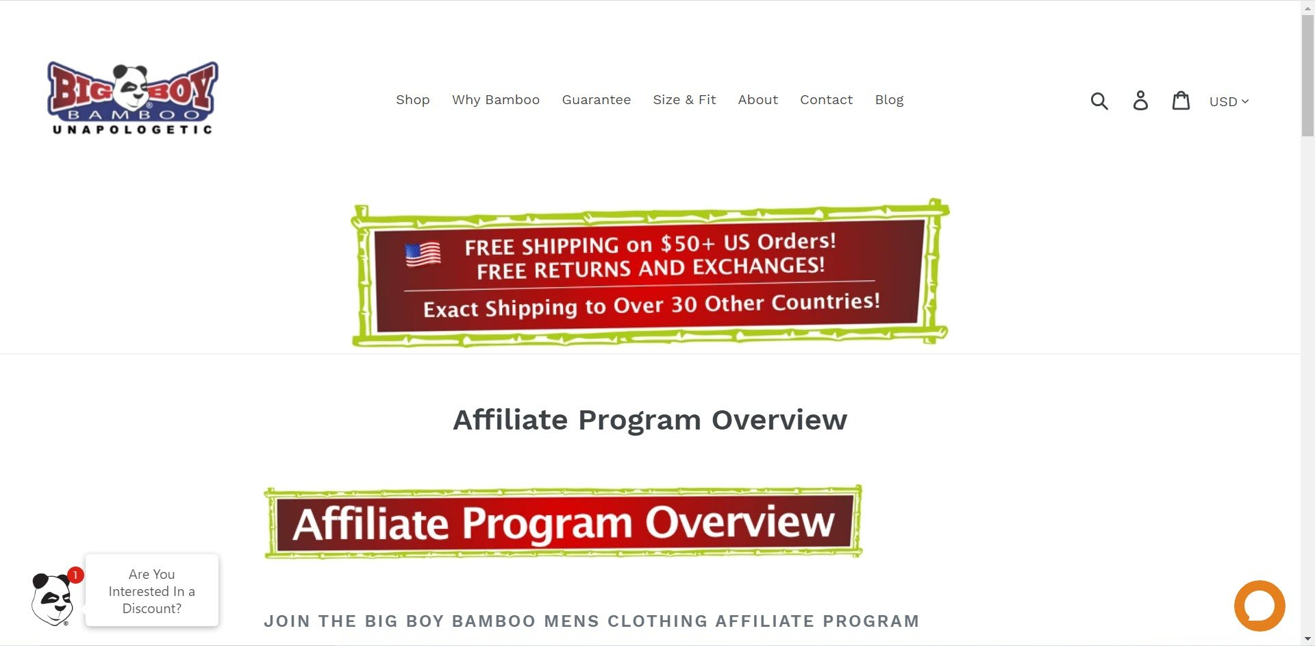 Plus Size Affiliate Programs - Big Boy Bamboo affiliate