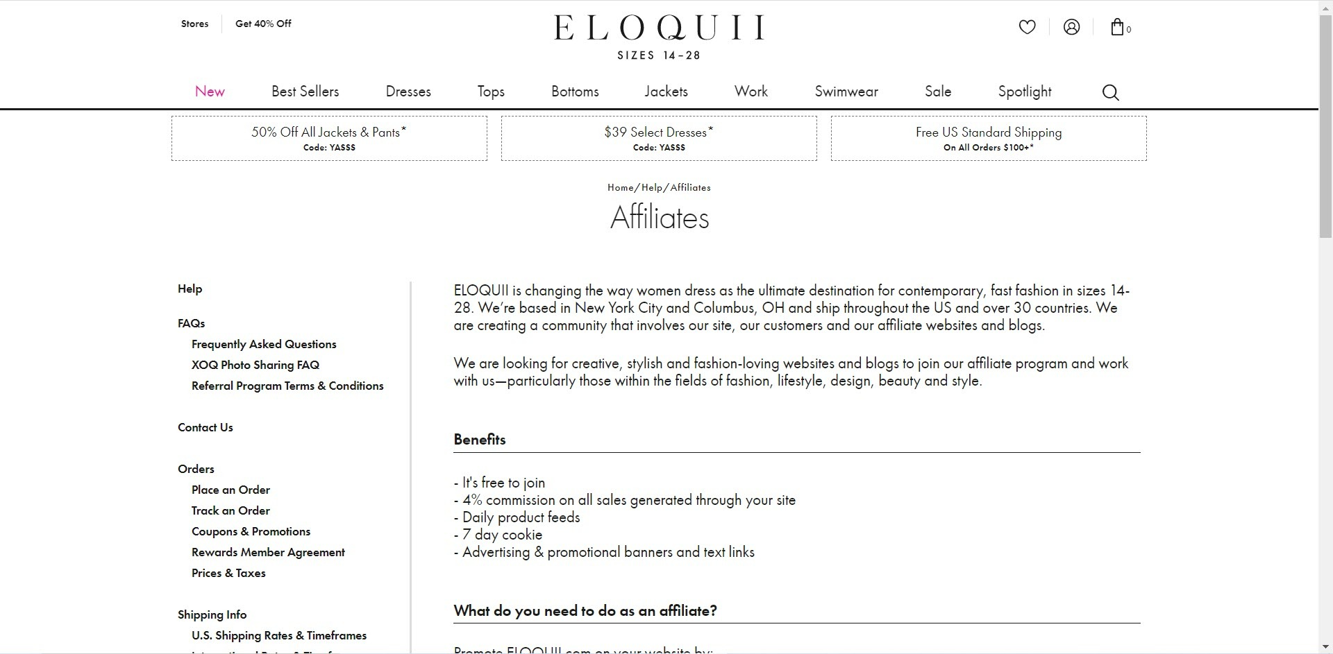 Plus Size Affiliate Programs - Eloquii affiliate