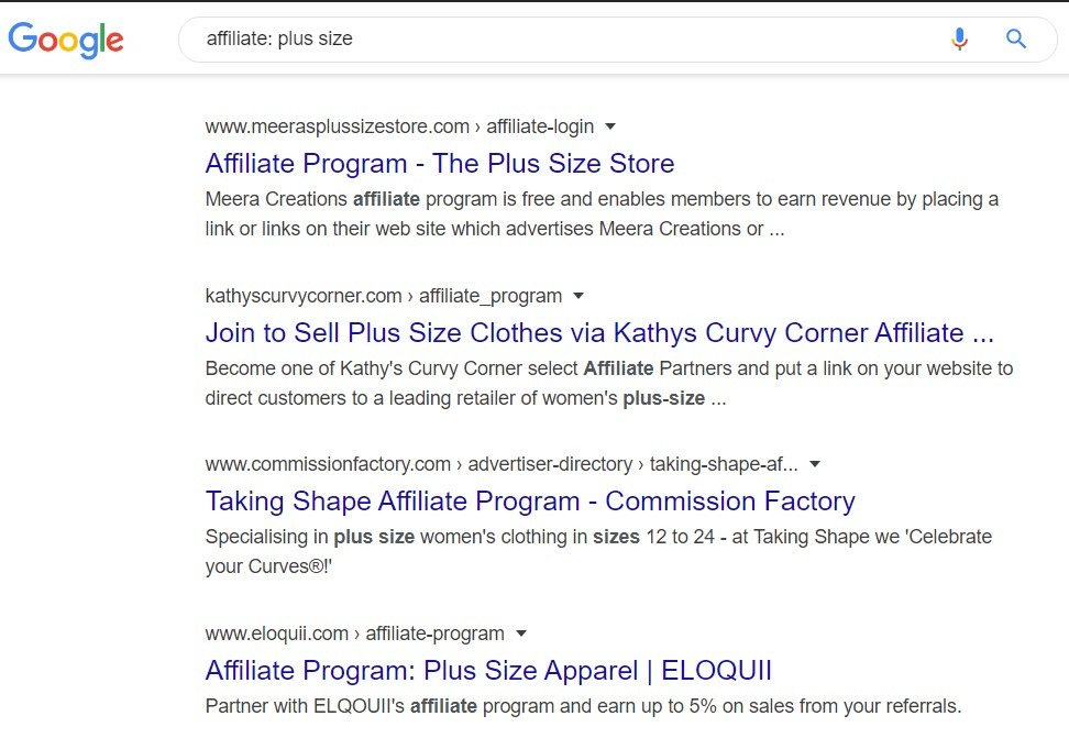 Plus Size Affiliate Programs - affiliate