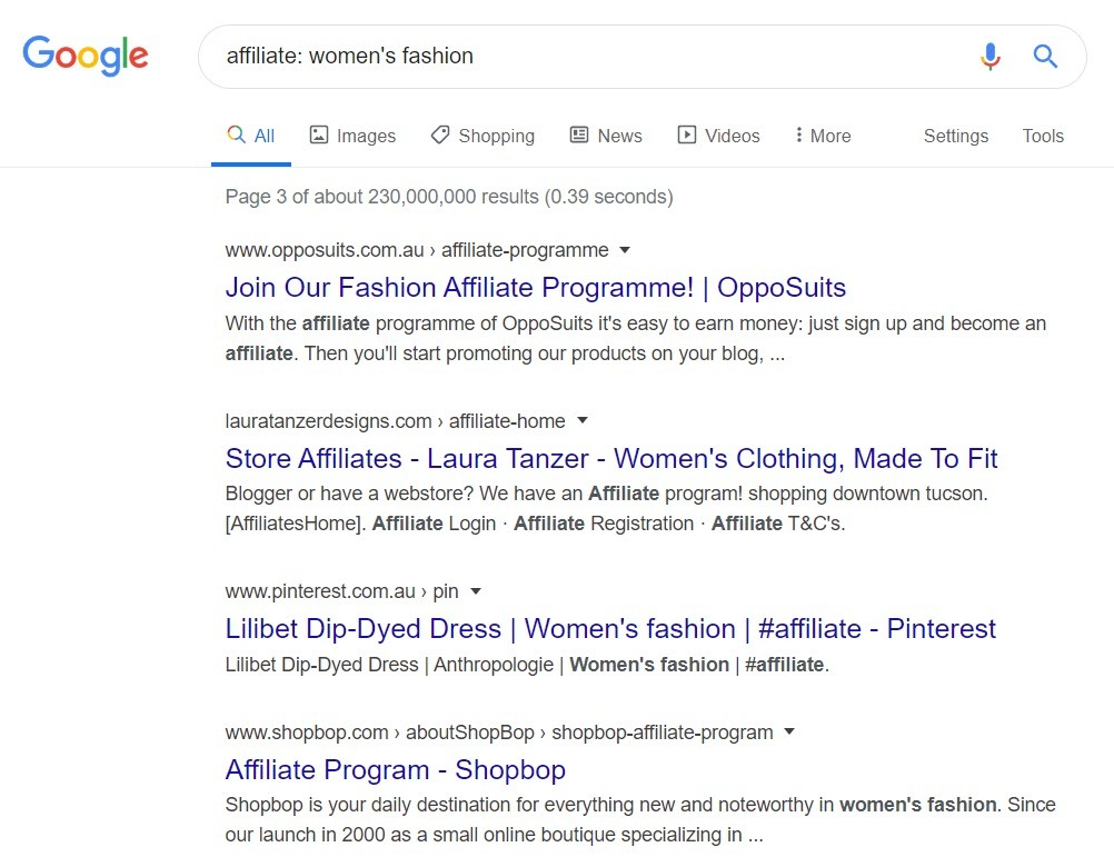 Women's Fashion Affiliate Programs - Affiliate programs