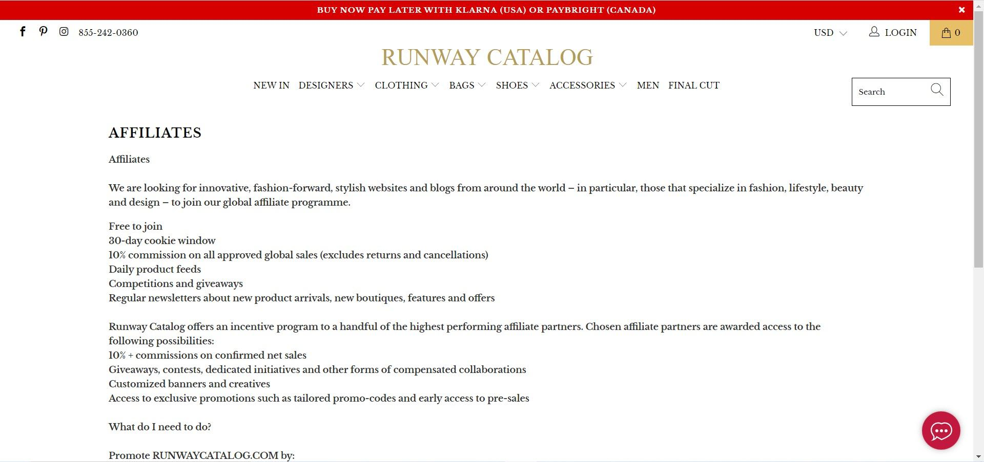 Women's Fashion Affiliate Programs - Runway Catelogue affiliate