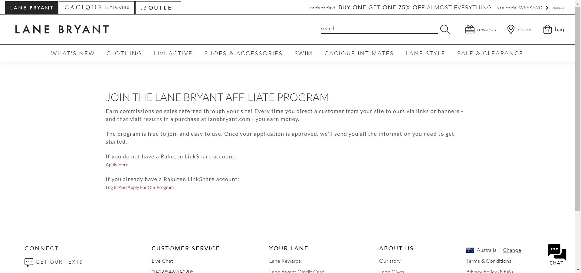 Women's Fashion Affiliate Programs - lane bryant affiliate