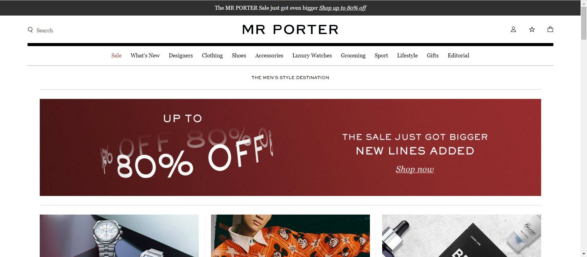 clothing affiliate marketing programs - Mr Porter Home