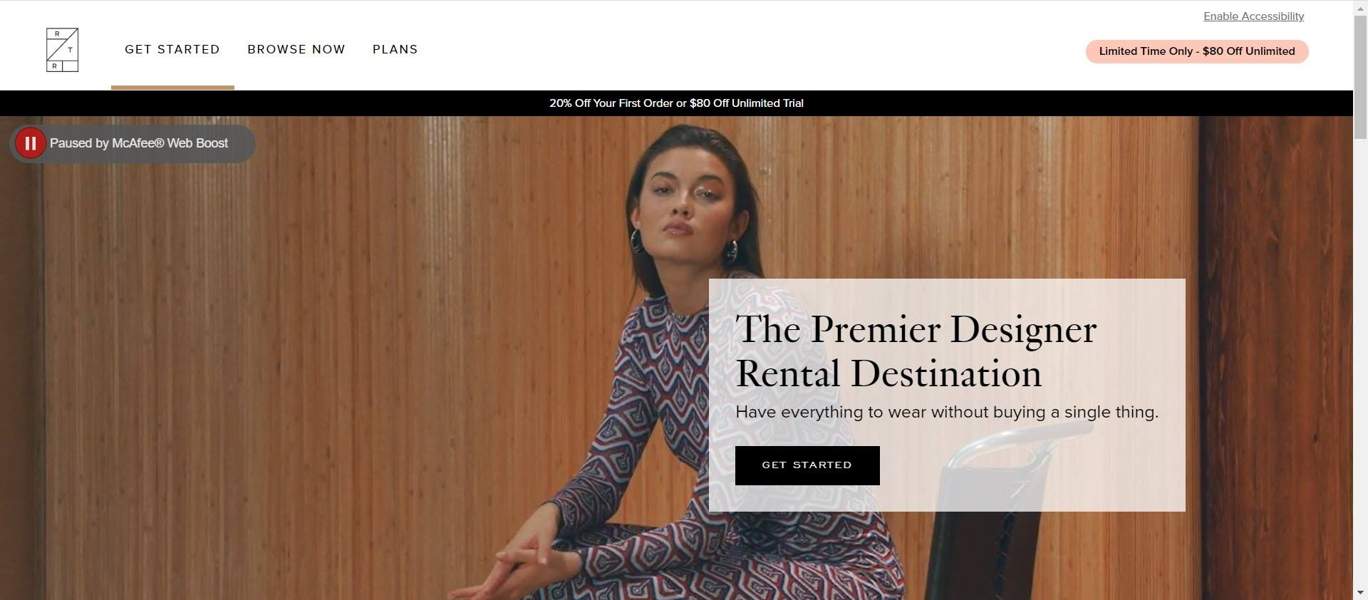 clothing affiliate marketing programs - Rent the runway home