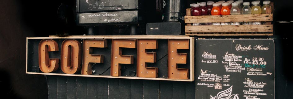 coffee affiliate programs - coffee sign