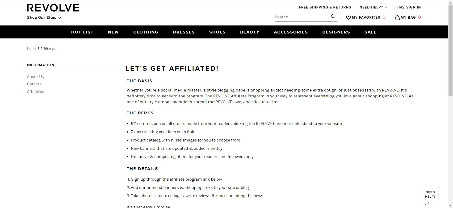 mens clothing affiliate programs - Revolve man affiliate
