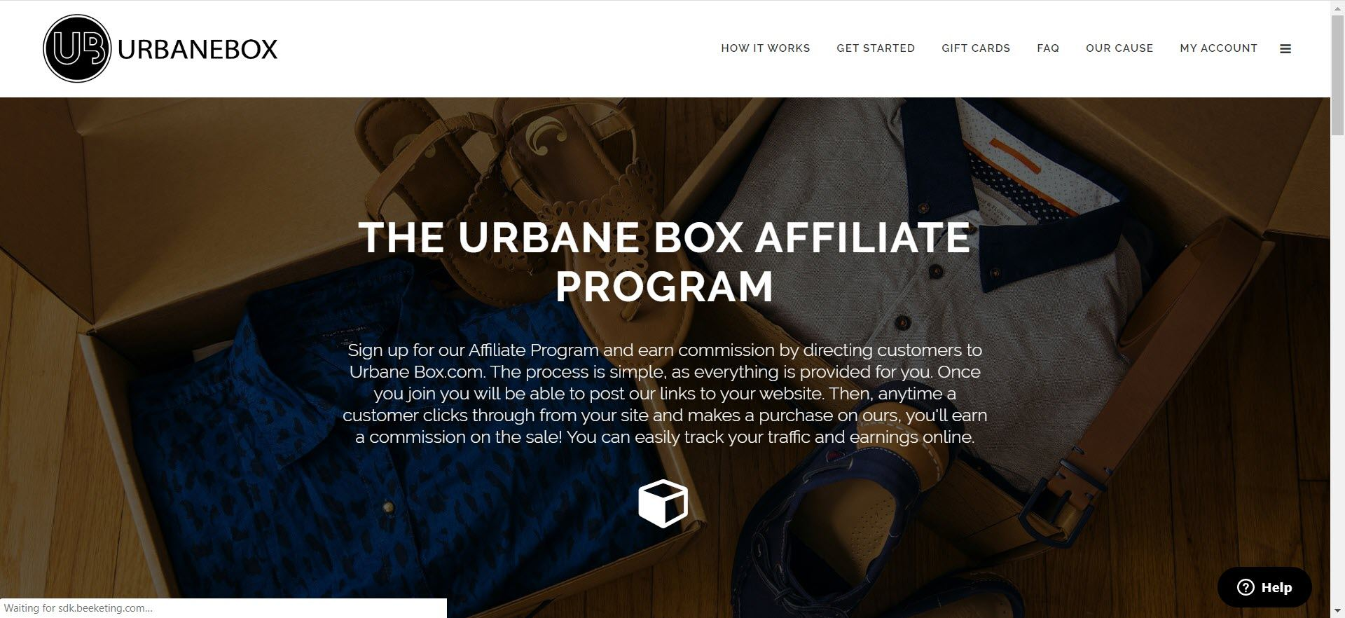mens clothing affiliate programs - Urbane Box Affiliate